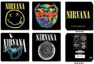 Nirvana boxed cork backed drinks mat / coasters set   (ro)